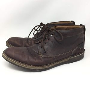 Clarks Brown Leather 11 M Desert Chukka Ankle Boot